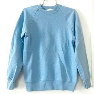 Vintage 1980's sweatshirt baby blue crew neck